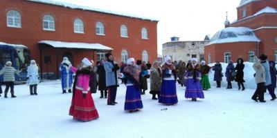 Ансамбль «Разгуляй» принял участие в святочных гуляниях в Ардатове