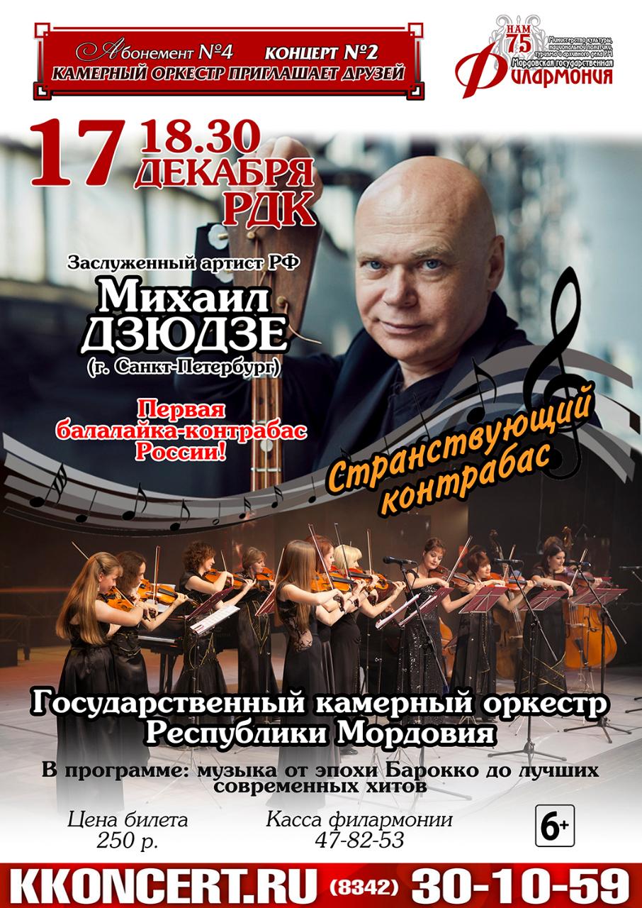 «Странствующий контрабас». Абонемент №4 «Камерный оркестр приглашает друзей» (6+)