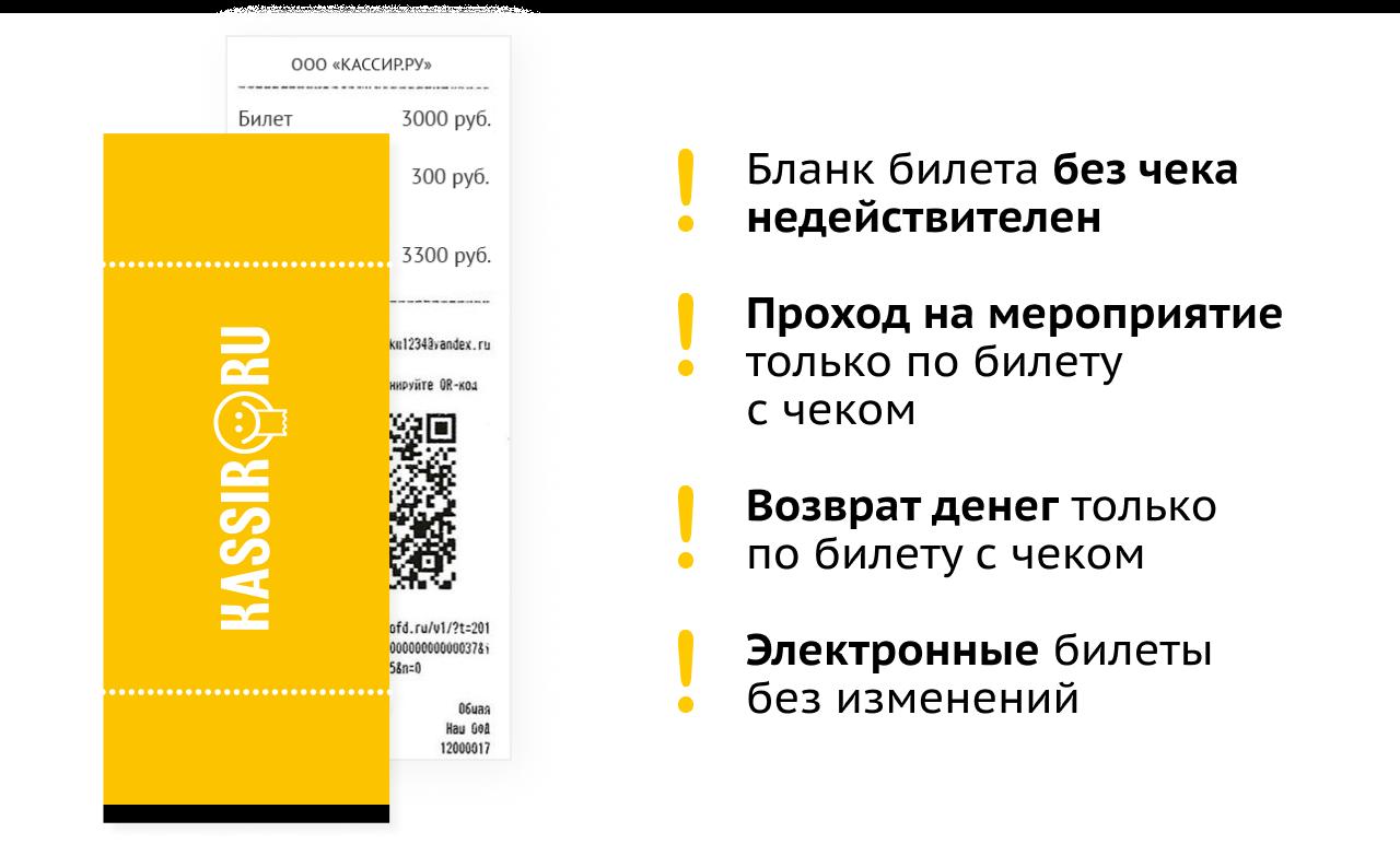 Информация по поводу возврата  билетов на отмененные концерты