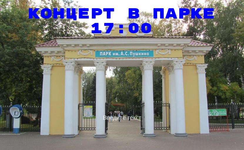 Концерт в парке имени Пушкина